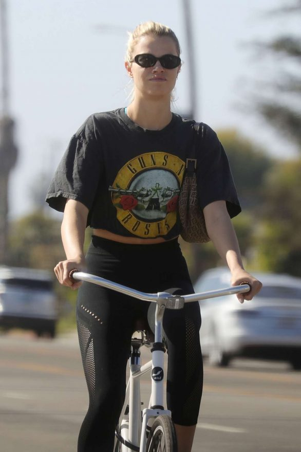 Hailey Clauson on Bike Riding Photos in Los Angeles