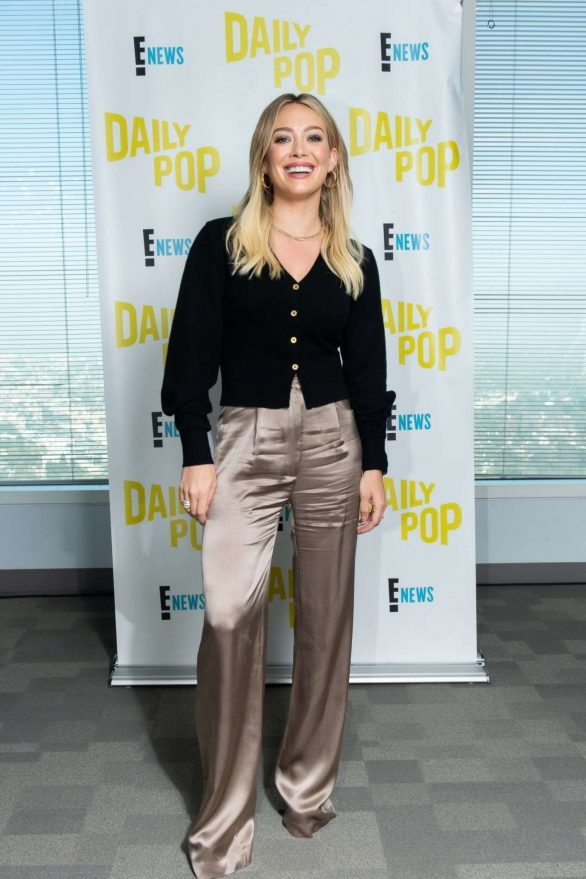 Hilary Duff Visits Daily Pop Photos in Universal City