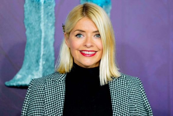 Holly Willoughby cuts a chic figure in a checked overcoat and Myleene Klass opts for velvet co-ords as they arrive for star-studded Frozen 2 premiere