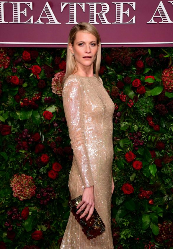 Poppy Delevingne wows in a glittering semi-sheer evening gown as she steps out with husband James Cook at the Evening Standard Theatre Awards