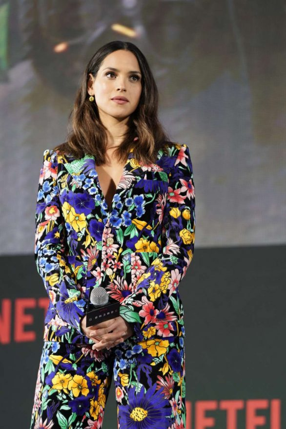 Adria Arjona Pics while attending Netflix's '6 Underground' World Premiere in Seoul