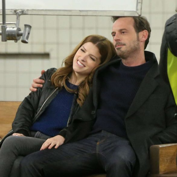 Anna Kendrick looking for love as she films scenes for HBO Max comedy series Love Life in Brooklyn