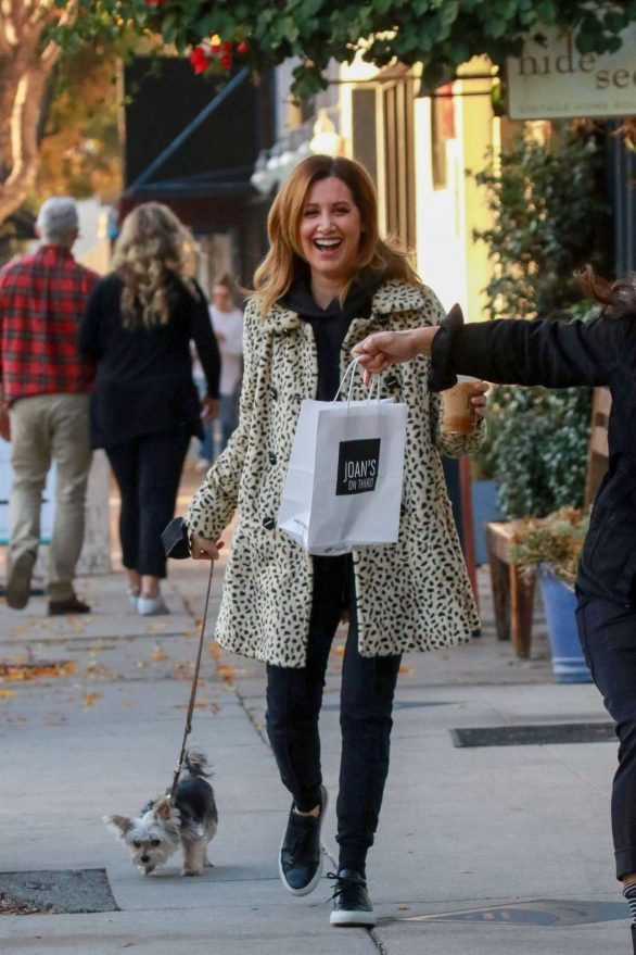 Ashley Tisdale Out for a coffee run at Joan's on Third in Studio City
