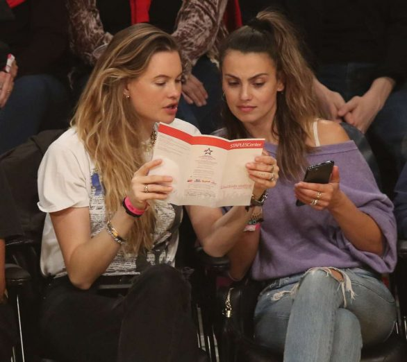 Behati Prinsloo and Whitney Hartley Wagner Pics At Los Angeles Lakers and the Denver Nuggets Game in LA