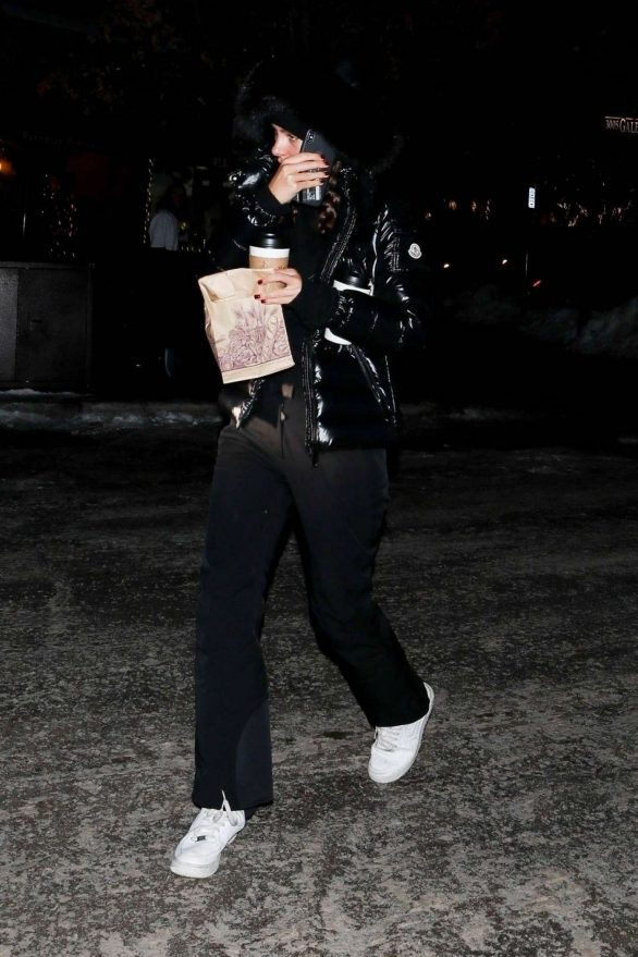 Camila Morrone Photos in Black Outfit While Out in Aspen