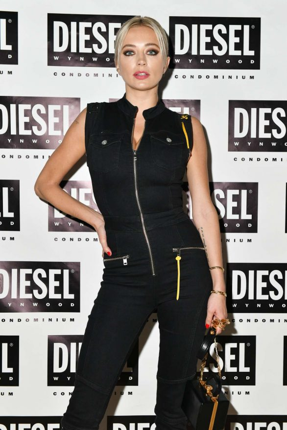 Caroline Vreeland attend as DIESEL celebrates the exclusive launch of DIESEL Wynwood 28, their first residential building, with a DJ set by Amrit at Barter on December 04, 2019 in Miami, Florida