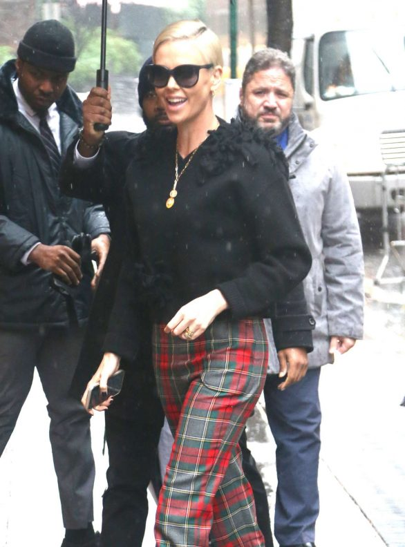 Charlize Theron Pics While Arrives at The View in New York