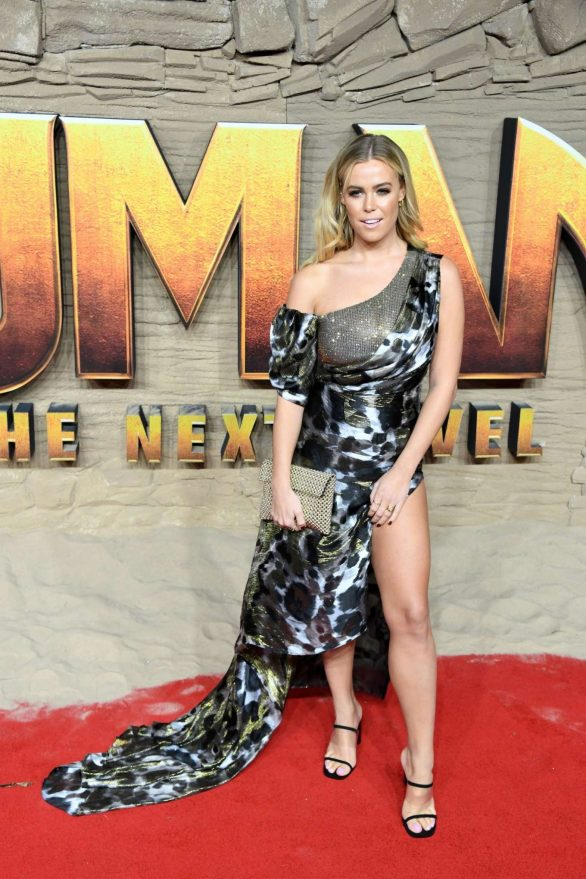 Chloe Meadows Pics while attending 'Jumanji: The Next Level' Premiere in London