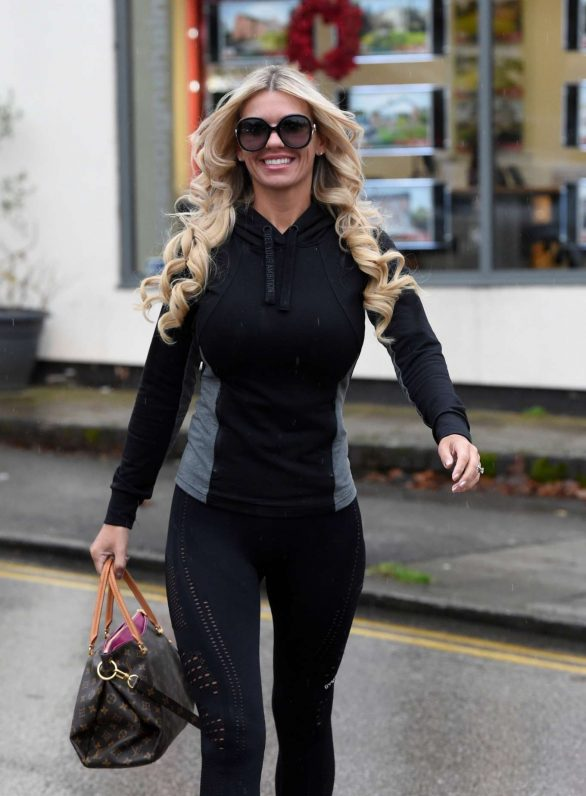 Christine McGuinness Pics in Spandex while Out in London