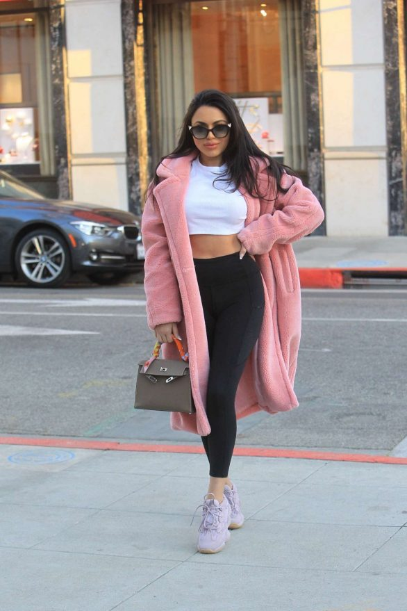 Durrani Popal Pics in Long Coat While Out in Beverly Hills