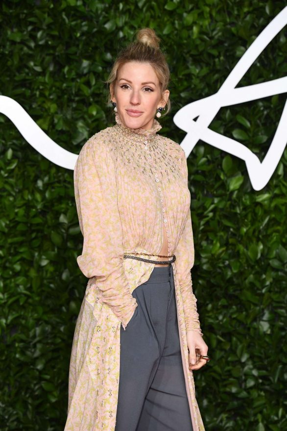 British Fashion Awards 2019: Ellie Goulding turns heads in an edgy cape and culottes as she hits the red carpet