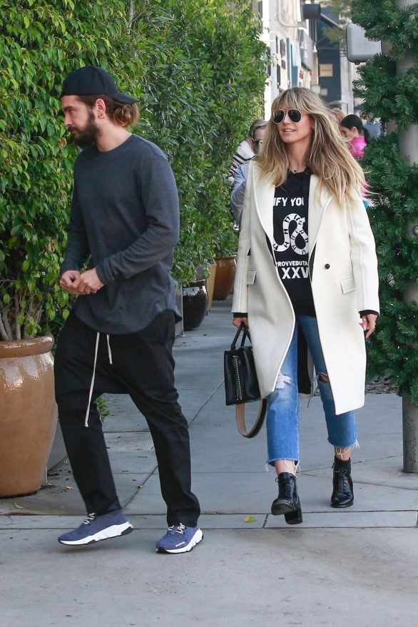 Heidi Klum and husband Tom Kaulitz pack on the PDA after enjoying a romantic lunch in Beverly Hills