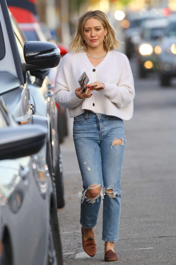 Hilary Duff Pics in Ripped Jeans While Out in Studio City