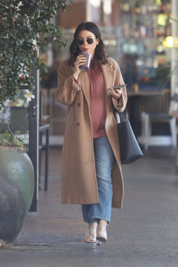Jenna Dewan bundles up in a warm coat as pregnant actress is spotted for the first time since ex Channing Tatum split from Jessie J