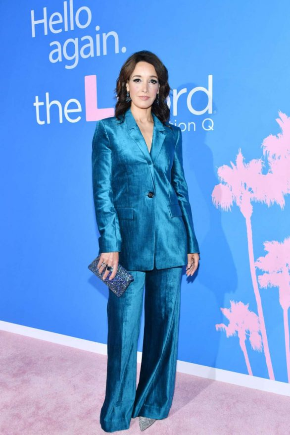 Jennifer Beals dazzles in blue satin as she reunites with Katherine Moennig and Leisha Hailey 10 years later at The L Word: Generation Q premiere in LA