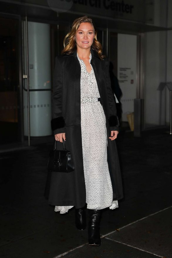 Julia Stiles Pics while Leaving the 'Hustlers' in New York