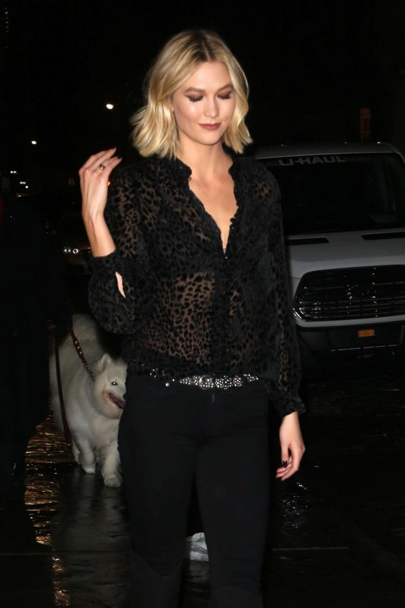 Karlie Kloss Pics in Black while Out in New York City