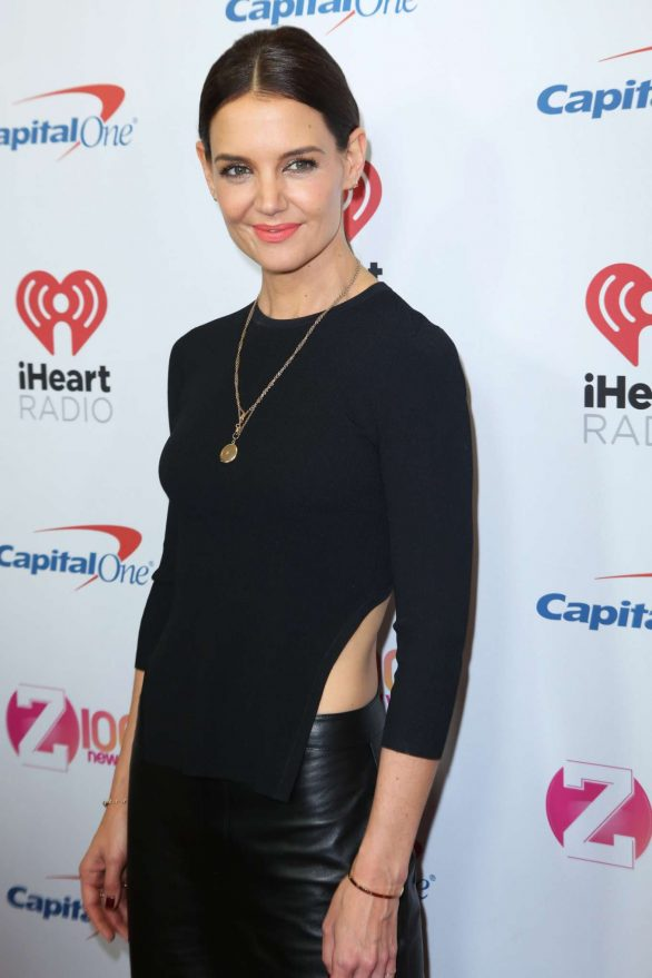 katie holmes attends the iheartradio's z100 jingle ball 2019 at madison square garden in new york city