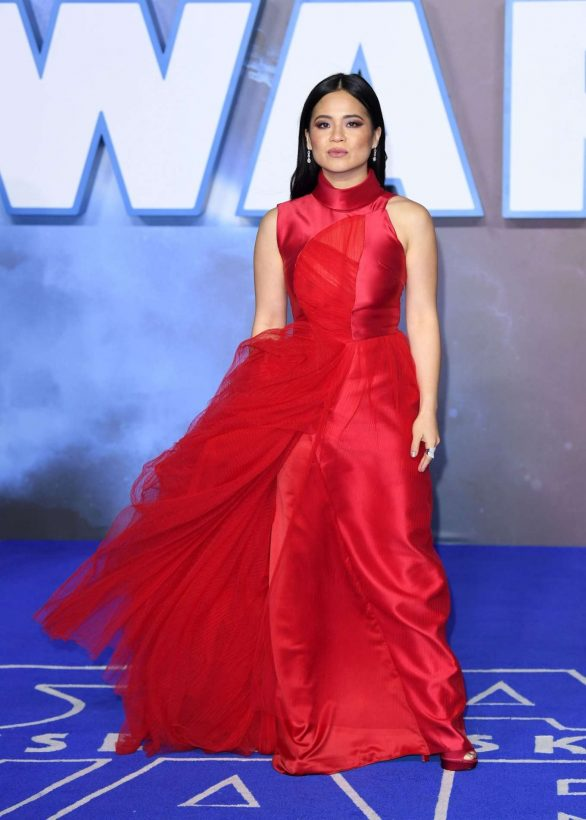 Kelly Marie Tran is regal in scarlet red gown as she stuns at Star Wars: The Rise of Skywalker premiere... after proudly speaking out against trolls