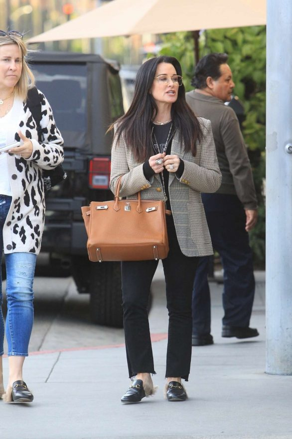 Kyle Richards Pics While Christmas shopping in Beverly Hills
