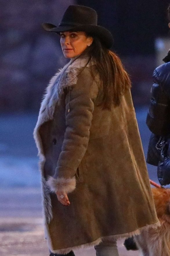 Kyle Richards Makes a stop at the pharmacy in Aspen