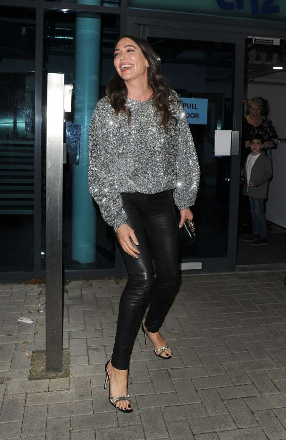 Lauren Silverman Photos while Leaving the LH2 Studios in London