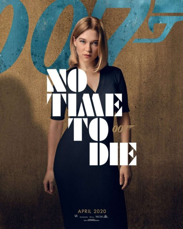 Lea Seydoux Pics at 'No Time to Die' Promotional Poster ...