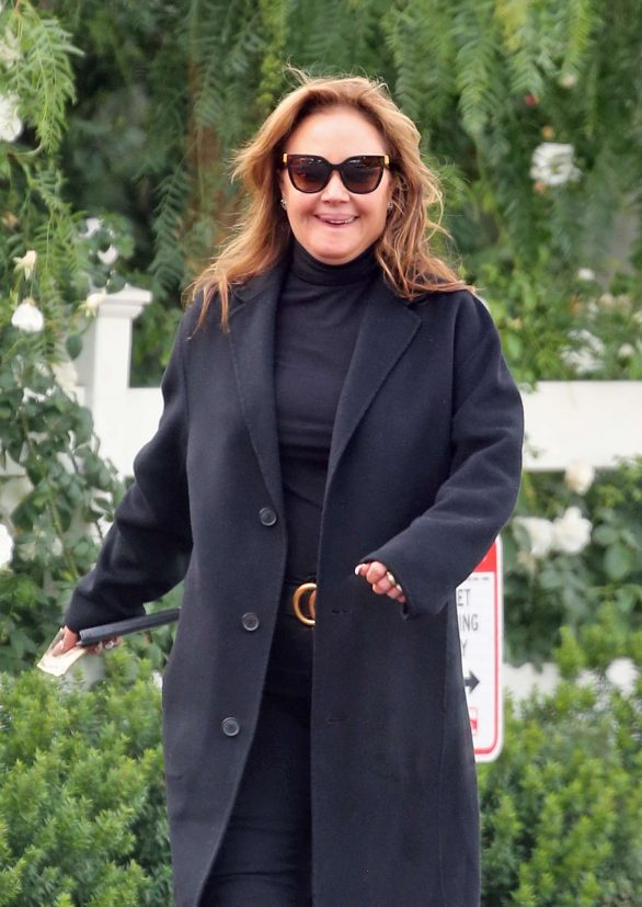 Leah Remini Pics While Seen as she leaves a restaurant in Hollywood