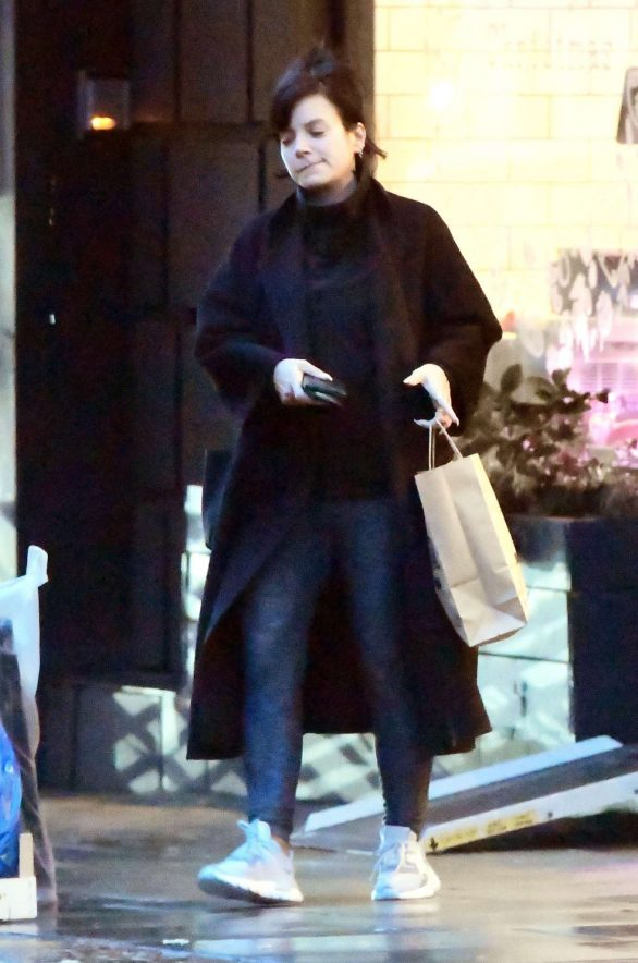 Lily Allen displays her make-up free complexion on shopping trip in Notting Hill