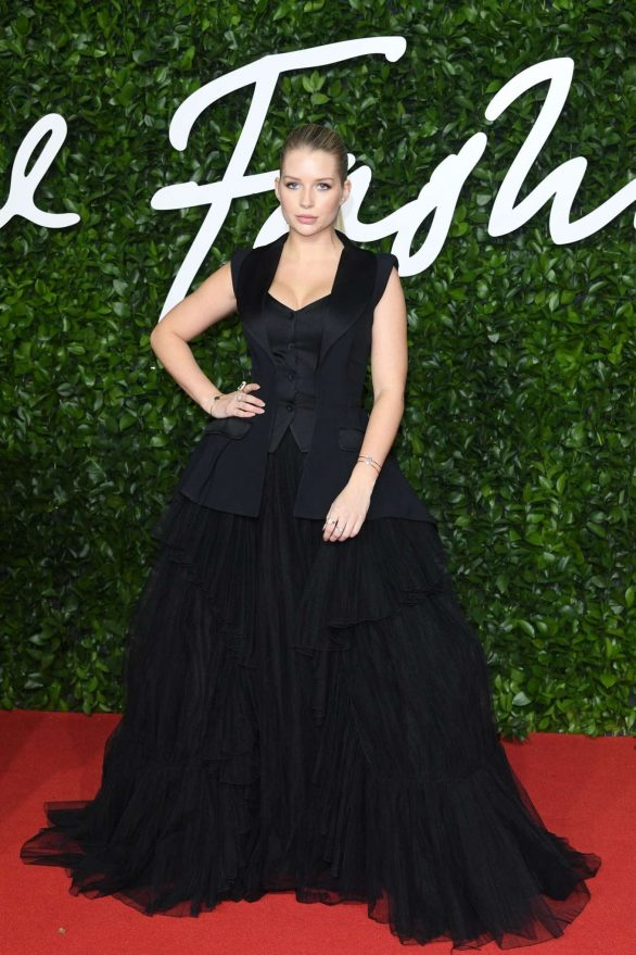 British Fashion Awards 2019: Lottie Moss turns heads on the red carpet in a quirky black tulle gown complete with buttoned-up waistcoat