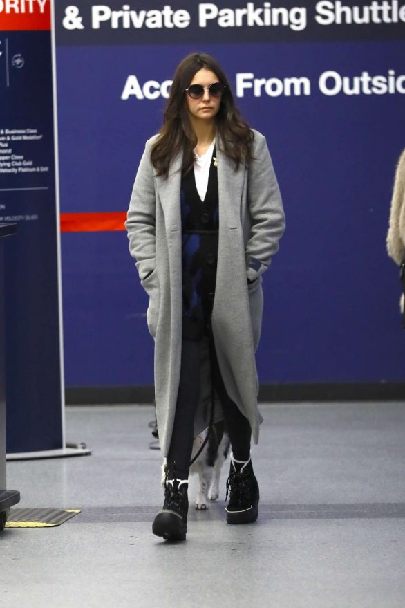Nina Dobrev Pics While Arrives at LAX airport in Los Angeles