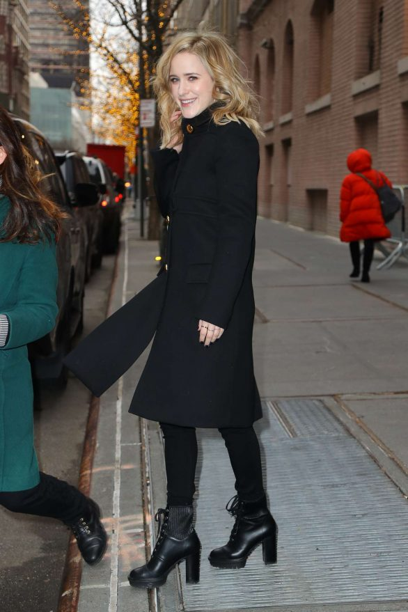 Rachel Brosnahan Pics While Leaving The View in New York