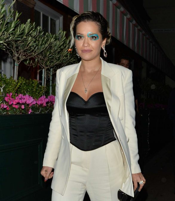 Rita Ora Pics while Attending at Fashion Awards After Party in London
