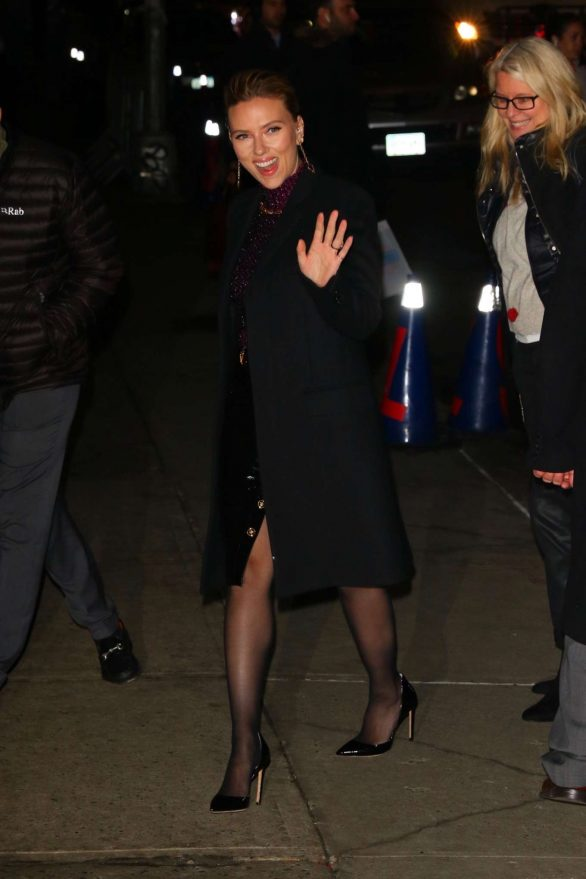 Scarlett Johansson Pics while Arrives at The Late Show With Stephen Colbert in New York City