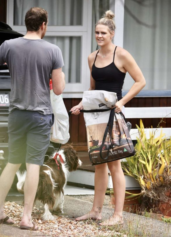 Shayna Jack Pics in Shorts at her home in Brisbane