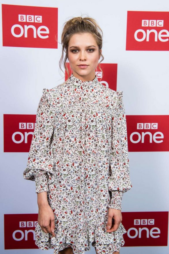 """Sophie Cookson attend the UK premiere of """"The Trial Of Christine Keeler"""" at Content London on December 04, 2019 in London, England"""