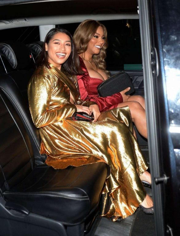 Vanessa White and Munroe Bergdorf Pics while Leaving Pat McGrath Party in London