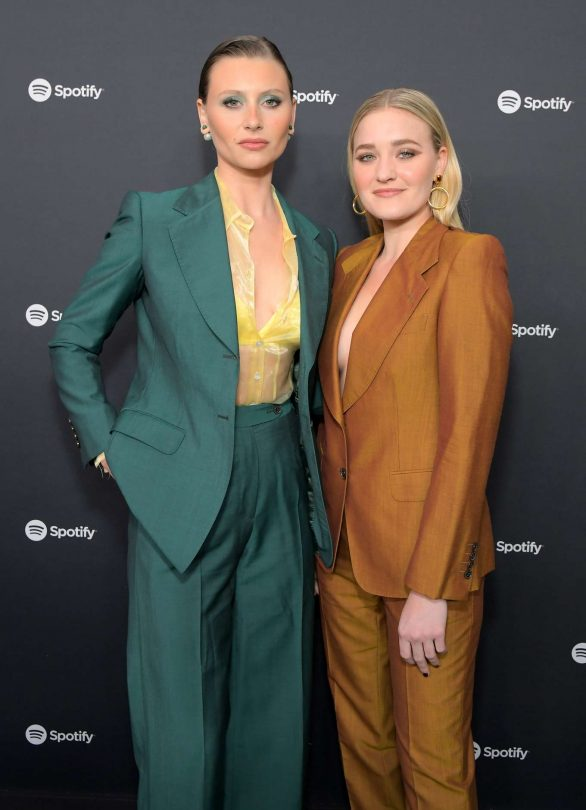 aj michalka and aly michalka attend the spotify 'best new artist' party 2020 in los angeles