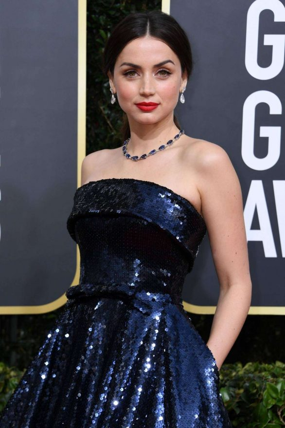 Ana de Armas attends the 77th Golden Globe Awards in Beverly Hills