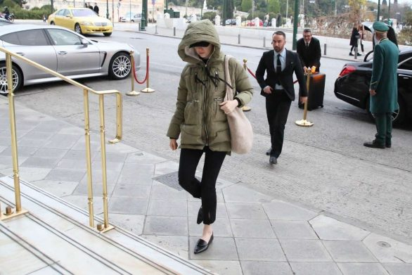 Emma Stone Arriving at Athens International Airport in Athens