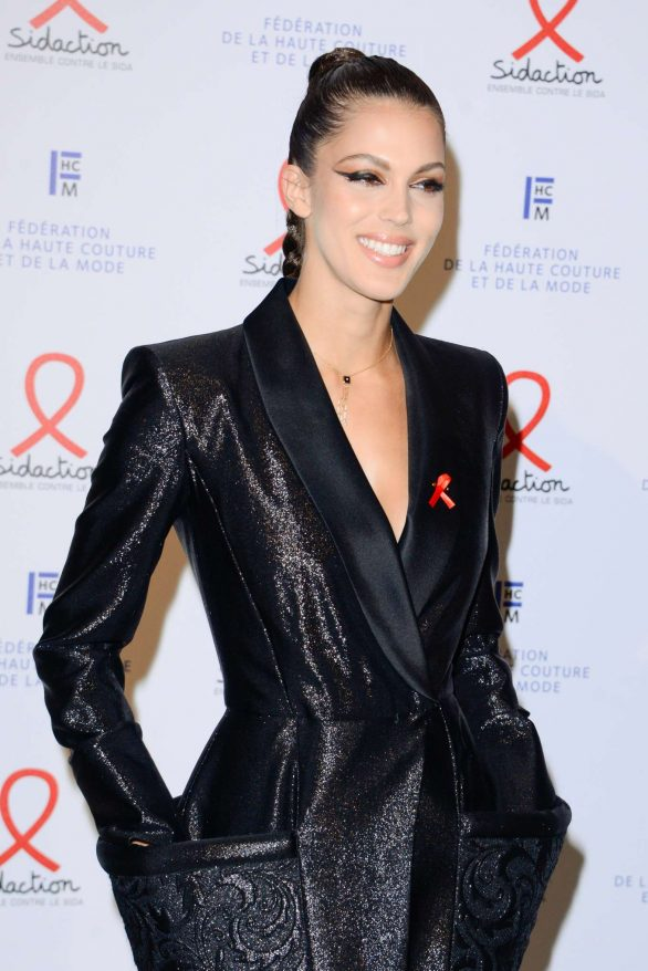 Iris Mittenaere attends Sidaction Gala Dinner 2020 At Pavillon Cambon on January 23, 2020 in Paris, France