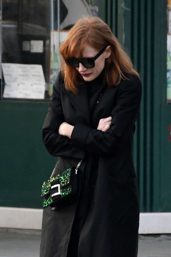 Jessica Chastain Pics Out for a walk in Venice
