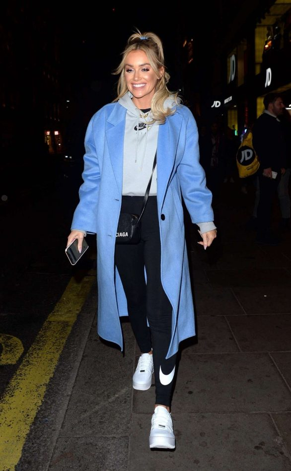 Laura Anderson Pics While Leaving JD Sports x Anthony Joshua Launch Event in London