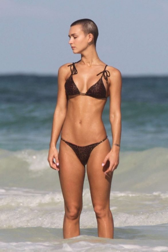 Rachel Cook Pics in Bikini on the beach in Tulum