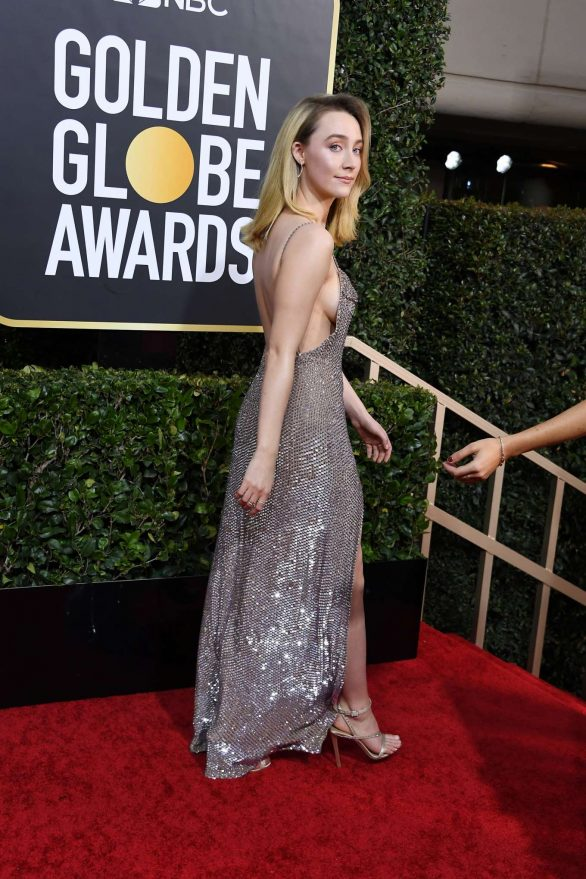 Saoirse Ronan attends the 77th Golden Globe Awards in Beverly Hills