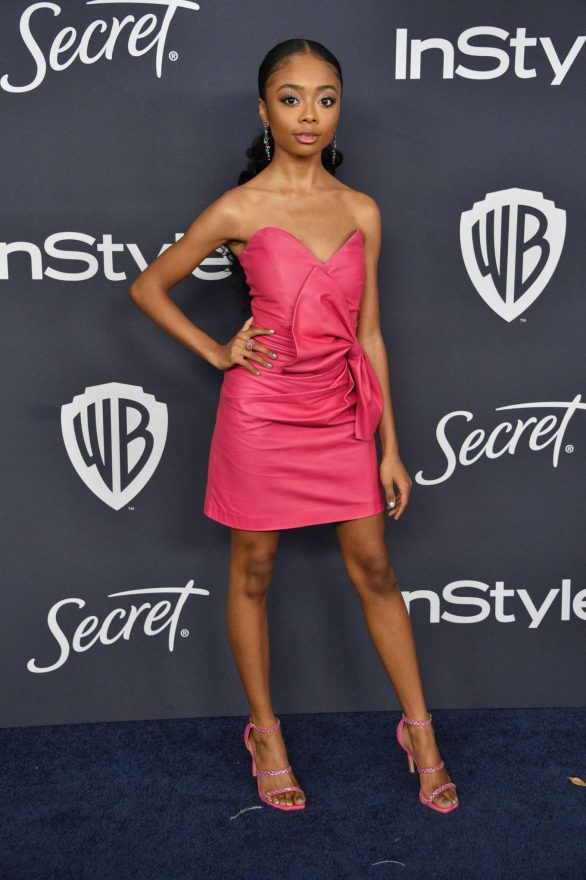 Skai Jackson attends The 2020 InStyle And Warner Bros. 77th Annual Golden Globe Awards Post-Party at The Beverly Hilton Hotel on January 05, 2020 in Beverly Hills, California
