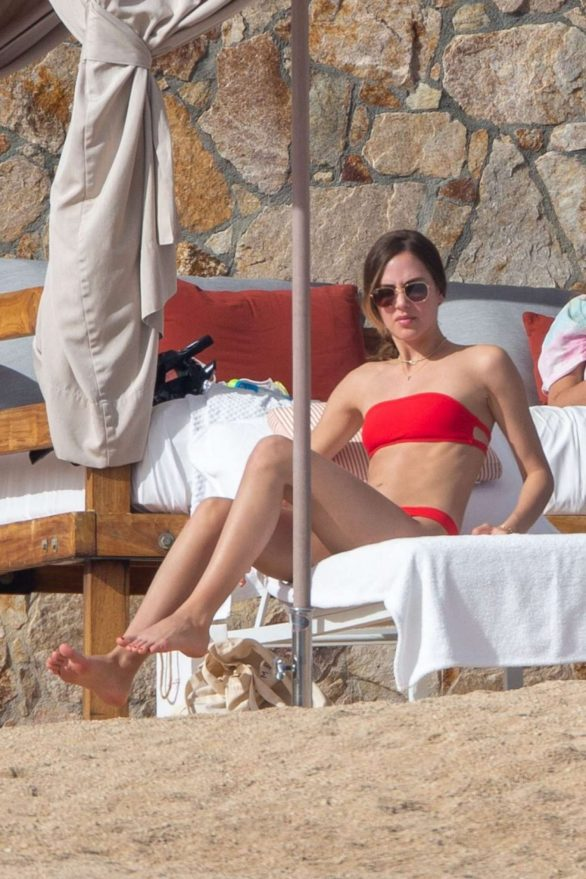 Tatiana Dieteman Pics in Red Bikini on vacationing in Mexico