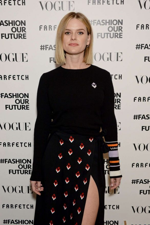 Alice Eve At Fashion Our Future launch event at London Fashion Week