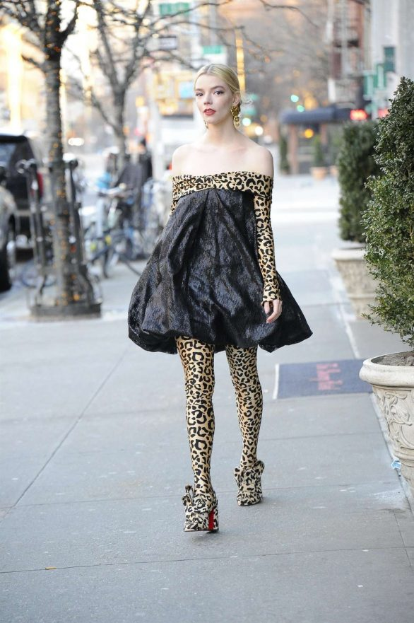 Anya Taylor-Joy Wears Leopard Print Outfit While Promoting 'EMMA.'