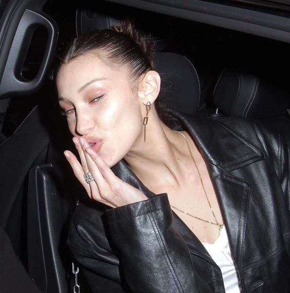 Bella Hadid Pics Spotted leaving Dover Street Market in Soho